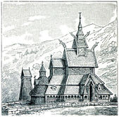 Borgund Stave Church — Stock Photo