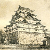 Castle in Nagoya — Stock Photo
