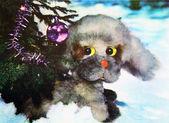 Christmas card - Lithuania 1981 — Stock Photo