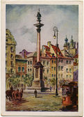 Column Zigmunt III - Old Warsaw — Stock Photo