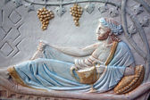 Bas-relief of Bacchus — Stock Photo