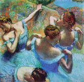 Edgar Degas - Blue Dancers — Stock Photo