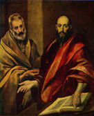 El Greco - The Apostol Peter and Pavel, The Hermitage, St Peterb — Stock Photo