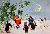 Ghosn ha pinguini sul corno — Foto Stock