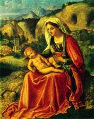Giorgione - The Virgin and Child in a Landscape. — Stock Photo