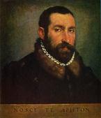 Giovanni Battista Moroni - Portrait of the Man, The Hermitage, S — Stock Photo