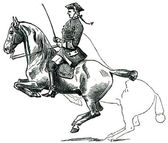 Graduate School of Riding - Lansada, dotted line denotes the pos — Stock Photo