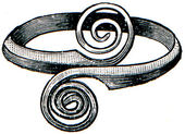 Greek bronze ring 8th century BC — Stock Photo