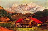 Gustave Courbet - A Hut in the Mountains — Stock Photo