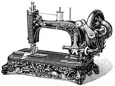 Hand sewing machine Meissen — Stock Photo