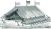 Military sanitation. Hospital Tent — Stock Photo