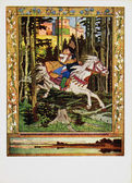 Urss - intorno al 1949: riproduzione di cartolina d'epoca illustrata, intorno al 1955 — Foto Stock