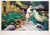 Valentin Serov illustrations of fairy tales by Alexander Pushkin — Stock Photo