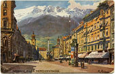 Innsbruck, Maria Theresa Street — Stock Photo