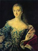 Ivan Argunov - Portrait of Princess Ekaterina Alexandrovna Loba — Stock Photo