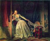 Jean Honore Fragonard - The Stolen Kiss — Stock Photo