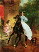 Karl Briullov - The Rider — Stock Photo