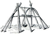 Lapp tent frame Kata — Stock Photo