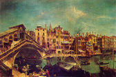 Michele Marieschi - The Rialto Bridge in Venice — Stock Photo