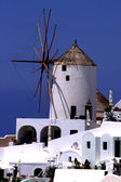 Windmill on Santorini island — Stock Photo