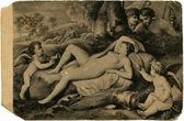 Nicolas Poussin - Sleeping Venus and Cupid,Alte Meister Gallerie — Stock Photo