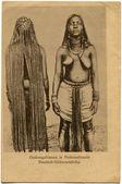 Ondongo kadın ulusal kostüm — Stok fotoğraf