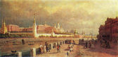 Pavel Vereshchagin - View of the Moscow Kremlin, 1879 — Stock Photo