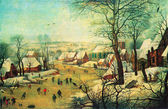 Peter Bruegel the Younger - Winter Landscape — Stock Photo