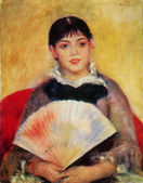 Pierre Auguste Renoir - Girl with a Fan — Stock Photo