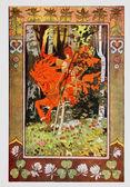 Red Horseman from Vasilisa the Beautiful 1899 by Ivan Bilibin — Stock Photo