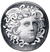 Roman cameo ring from the times of Emperor Augustus — Stock Photo