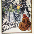 Tale Jack Frost - an illustration Bilibin — Stock Photo