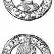 Testoni of GiGaleazzo SforzDuke of Milan, 1481 - 1494 — Stock Photo #11870430