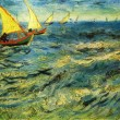 Vincent Van Gogh - The sea at Saint-Marie — Stock Photo