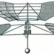 Aerial appliance of Forlanini, 1878 — Stock Photo