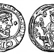 Stock Photo: Denarius of Emperor Henry 4, Duisburg, 1056 - 1106