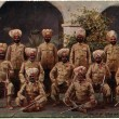 Stock Photo: Group of Sikh native officers,