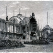 Main building of the International Exhibition in Paris,1897 — Stock Photo