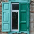 Old window shutters opened — Stock Photo