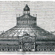 Rotunda of the International Exhibition in Vienna, 1873 — Stock Photo
