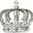 Tipical royal crown — Stock Photo