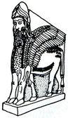 The winged man-bull - Nimrud palace guard, Assyria — Stock Photo
