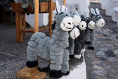 Toy donkey-puppets — Stock Photo