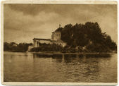 Tsaritsyn island with a pavilion, arzhitektor Spakenschneider, P — Stock Photo