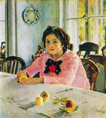 Valentin Serov - The girl with peaches, 1887 — Stock Photo