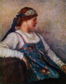 Vasily Surikov - Portrait of Natalia Matveyeva, Art Museum, Khar — Stock Photo