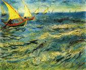 Vincent Van Gogh - The sea at Saint-Marie — Stock Photo