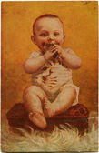 Boy eating chocolate — Stock Photo