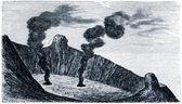 Etna dağı krateri — Stok fotoğraf
