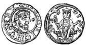 Denarius of the Emperor Henry 4, Duisburg, 1056 - 1106 — Stock Photo